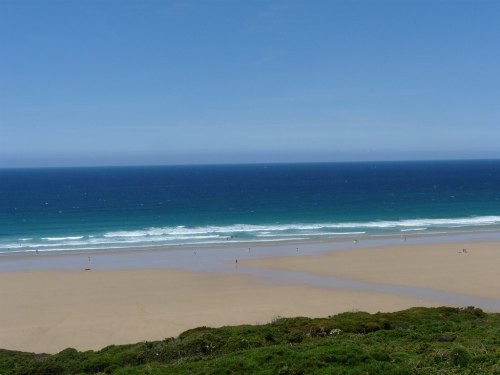 Watergate Bay beach by Los Pycock